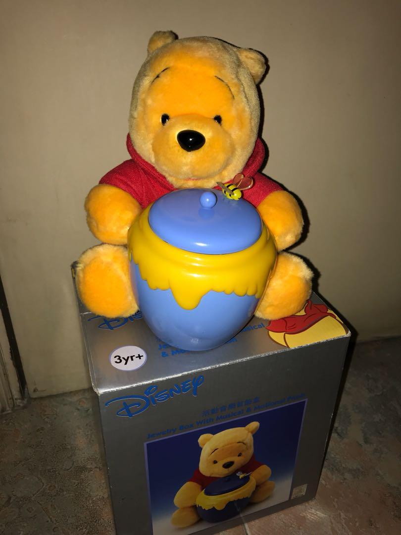 Winnie The Pooh 絕版活動音樂首飾盒