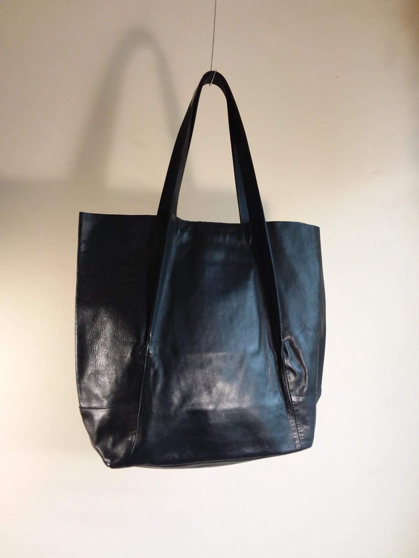Yohji Yamamoto Leather Tote 6d76a67b2cb2b