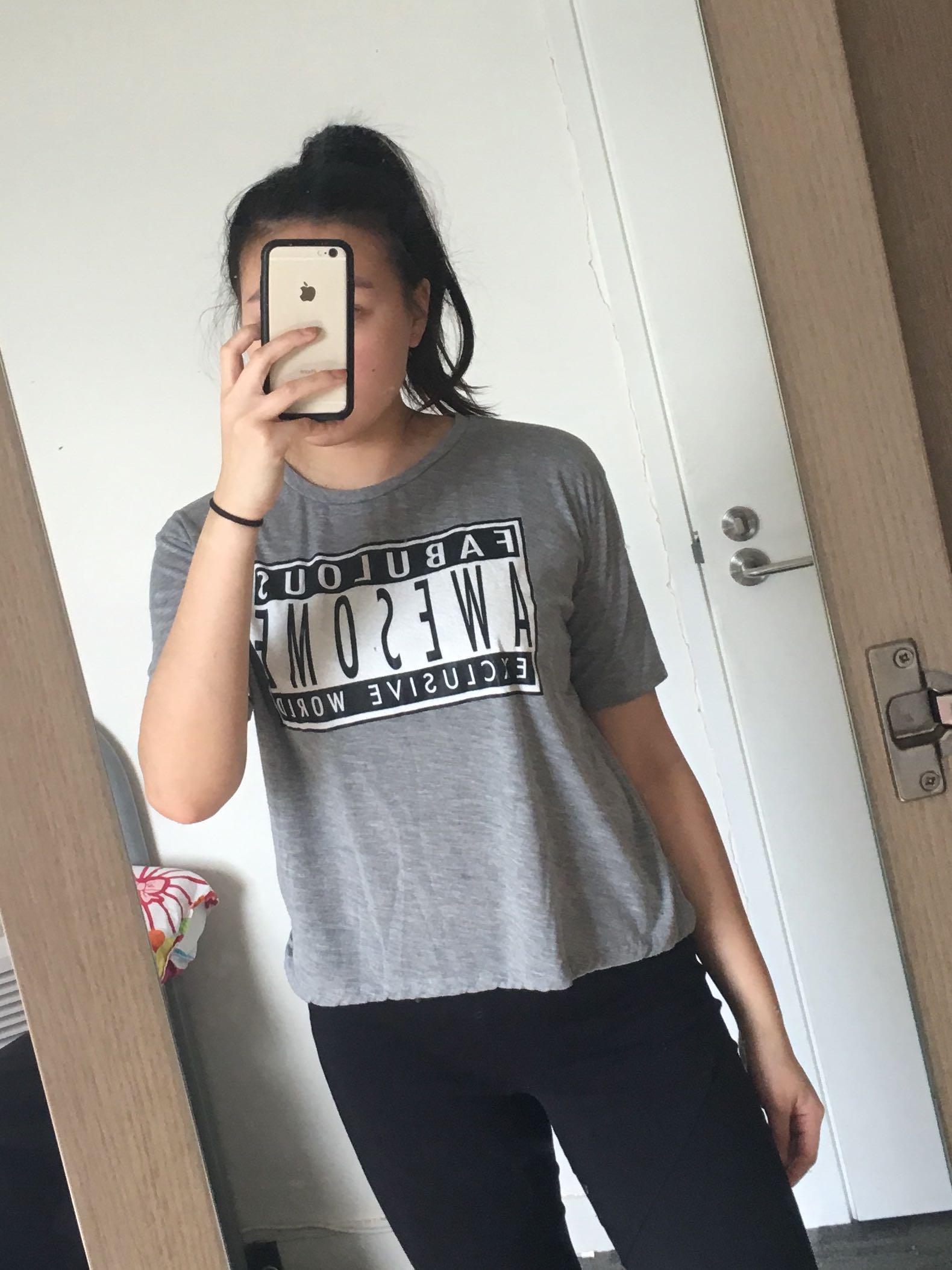 Zara Grey Top (M)