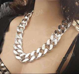 Silver Color Chunky Necklace