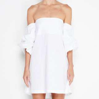 MLM Pillar Shoulder Dress XS White