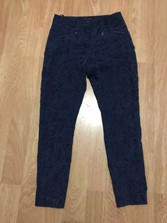 Forever New blue paisley print pants size 8