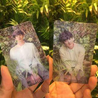 EXO CHANYEOL NATURE REPUBLIC LENTICULAR PHOTOCARD