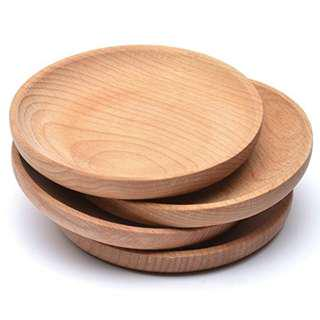 Deco: Nordic Beech Wood Round Tray