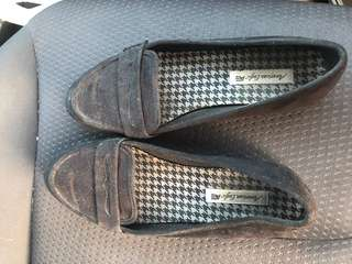 Black loafers from payless