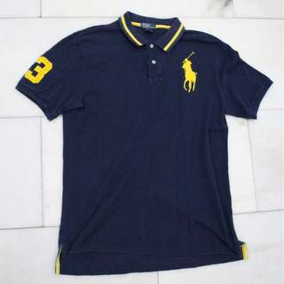 Ralph Lauren Polo Navy Yellow Stripe