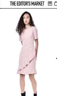 The Editors market maroon dress