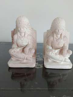 Hand carved stone figurines - Red indians