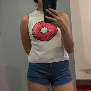 Donut sleeveless top