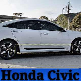 Honda Civic Side Molding Cover Trim Door Body Kits Only For 10 Generation(4pcs)