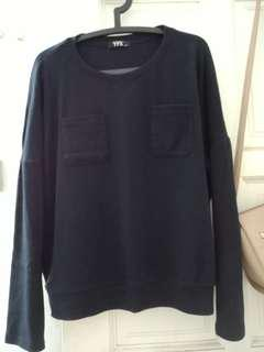 YFS sweatshirt Batwing Top Navy