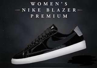 Nike Women's Premium Blazer Glossy Black 6.5