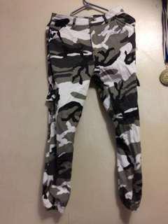 Grey camo pants