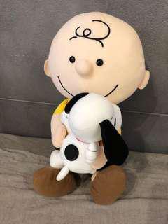 查理抱抱史努比款45cm高 SEGA 限定 Snoopy & Charles  HKD $120