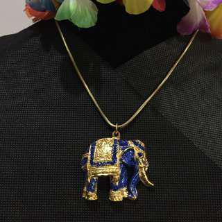 Blue Elephant Pendant