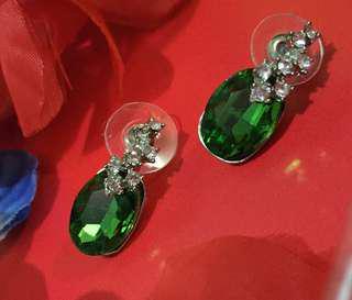 Green Party Earrings
