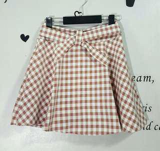 Checkered Skirt ( garterize)