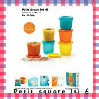 Tupperware Petit Square isi 6