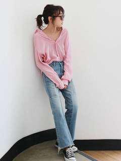 日本專櫃品牌ungrid 粉色襯衫