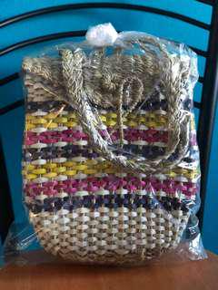 Palm leaves/Rattan Backpack made of Philippines
