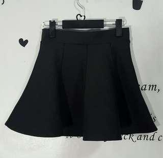 Dark Gray Skater Skirt