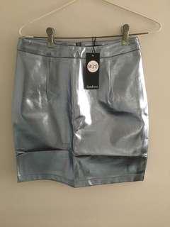 Boohoo metallic mini skirt 8