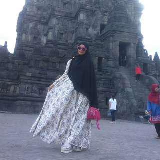 Baju muslim dress katun jepang like princess
