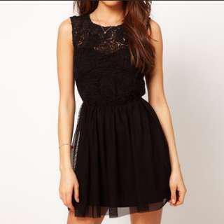 ASOS Rose Mesh Mini Dress In Black (Lace) #UNDER90