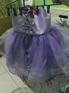 Purple Semi gown for 4 to 5 yrs old (once used only for fashion show)