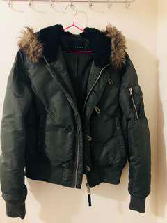 Dark green winter jacket size M