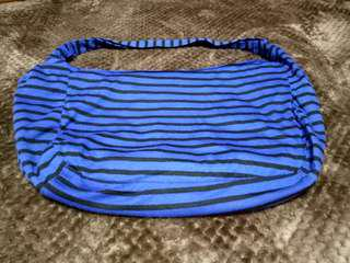 Stripes Blue Black Bag