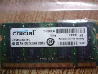 4GB Laptop RAM DDR2 (4 pcs left)