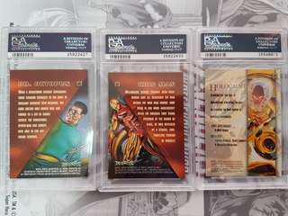 1996 marvel masterpieces PSA graded trading cards gem 9