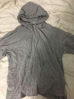 Zara gray oversized light hoodie size S