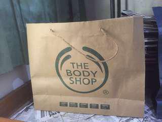 Paper Bag The Body Shop ORIGINAL ASLI