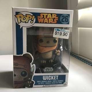 Funko Pop Wicket Star Wars Blue Box