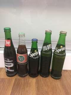 Vintage bottles with drink (lot)