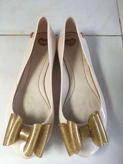 Melissa Bow Gold/Nude