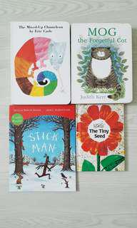 Eric Carle The Mixed Up Chameleon & The Tiny Seed & Julia Donaldson The Stick Man & Judith Ker Mog the Forgetful Cat