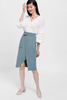 BNWT Love Bonito Oesley Button Skirt