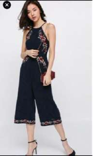 6bed6ef488c7 Love Bonito quela embroidery jumpsuit in navy