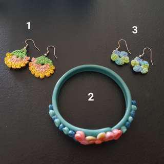 Flower Bundle (2 earrings, 1 bracelet)