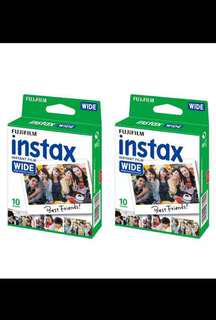 Fujifilm Instax Film (Wide) 10 sheets x 2