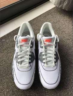 Genuine Nike white air max's