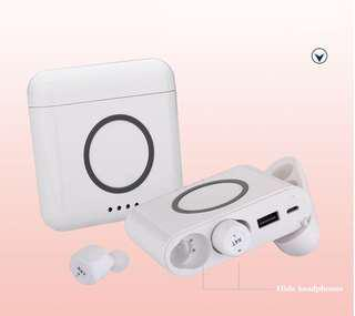 Luxurious Design, Novel Earphones Earbuds With Power Bank Charging Case! Noise Isolated!