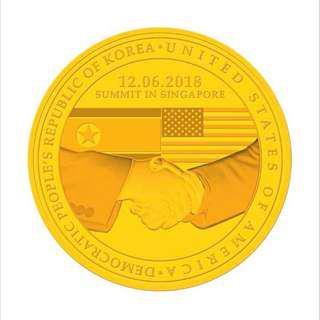 (Gold) United States - North Korea Summit 2018 1/2 oz 999.9 Fine Gold Proof Medallion