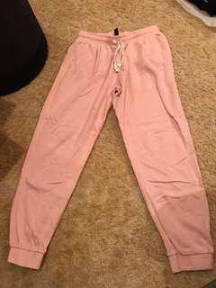 Factorie baby pink track pants Size L Large pockets comfy trackies