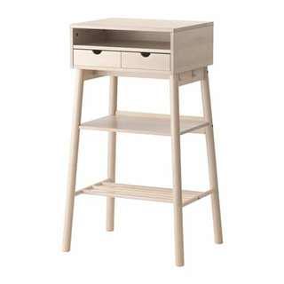 Standing desk white birch