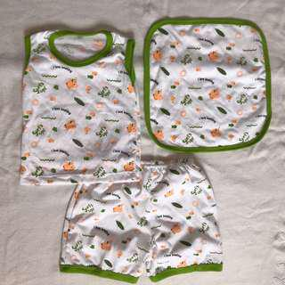 Kids Terno Set with Towel