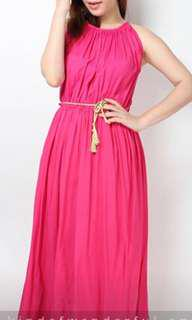 Fushsia maxi summer dress